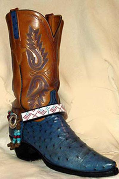 Hand Beaded Boot Bracelet Osage Design Flags