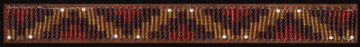 Hand Beaded Boot Bracelet Navajo Design Chocolate