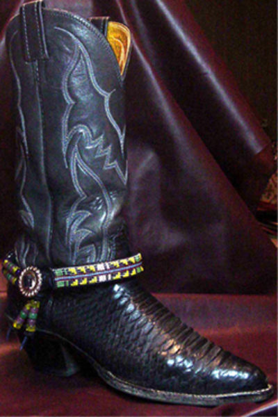 Hand Beaded Boot Bracelet Crow Design Arrows