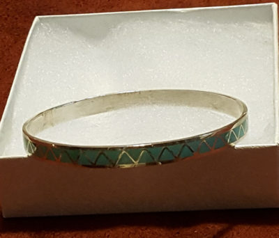 Turquoise Infinity Bangle Bracelet