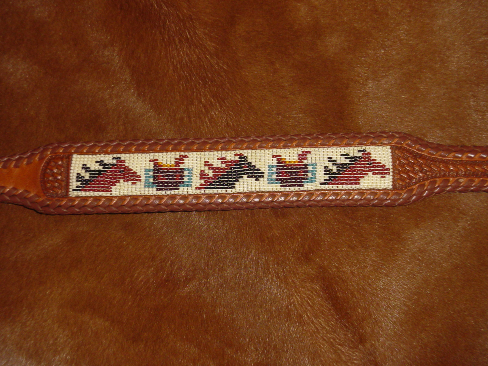 3ebbe2c61 Hand Beaded Belt Horses and Saddles - Southpaw Beadworks