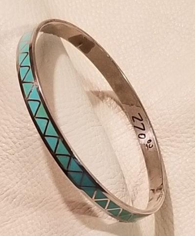 Turquoise Infinity Bangle Bracelet