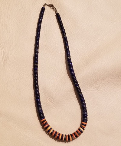Lapis and Spiny Oyster Necklace