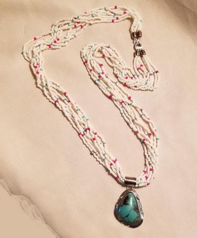 Eight Strand Popcorn Necklace